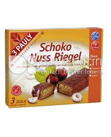 Produktabbildung: 3 PAULY Schoko Nuss Riegel 75 g