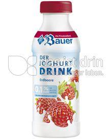 Produktabbildung: Bauer Joghurtdrink 0,1% Erdbeere 250 g