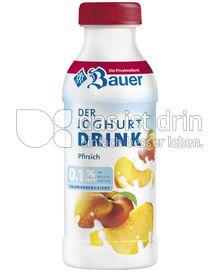 Produktabbildung: Bauer Joghurtdrink 0,1% Pfirsich 250 g