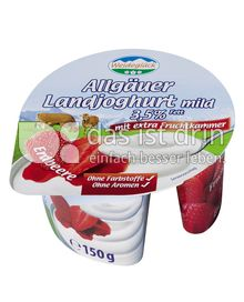 Produktabbildung: Weideglück Allgäuer Landjoghurt mild Erdbeere 150 g