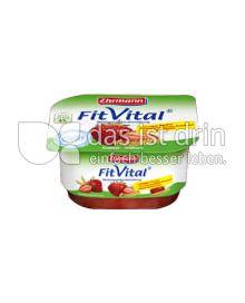 Produktabbildung: Ehrmann FitVital Diät Speisequark Erdbeer-Vollkorn 150 g