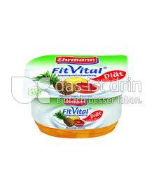 Produktabbildung: Ehrmann FitVital Diät Speisequark Blutorange-Ananas 150 g
