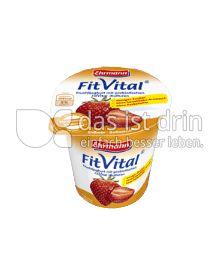 Produktabbildung: Ehrmann FitVital Verdauungsfördernd Erdbeer-Ballaststoffe 150 g