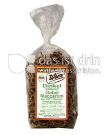 Produktabbildung: Werz Dinkel-Gabel-Maccaroni 200 g