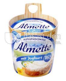 Produktabbildung: Almette Alpenfrischkäse mit Joghurt 16% 150 g