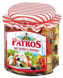 Produktabbildung: Patros Würfel mit Oliven und Paprika 300 g