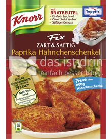 Produktabbildung: Knorr Fix Zart & Saftig Paprika Hähnchenschenkel 24 g