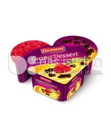 Produktabbildung: Ehrmann Grand Dessert nach Herzenslust Vanille Himbeere 150 g