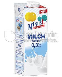 Produktabbildung: MinusL Laktosefreie H-Milch entrahmt 0,3 % Fett 1 l
