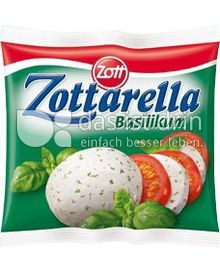 Produktabbildung: Zott Zottarella Kugel Basilikum 125 g