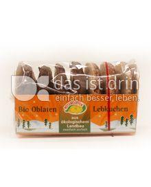 Produktabbildung: Rosengarten Bio Oblatenlebkuchen 200 g