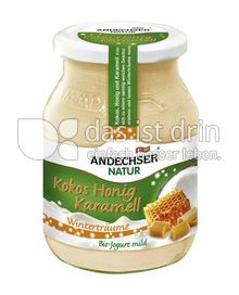 Produktabbildung: Andechser Natur Wintertraum Bio-Jogurt mild Kokos-Honig-Karamell 500 g