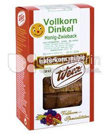 Produktabbildung: Werz Dinkel-Zwieback mit Honig 175 g