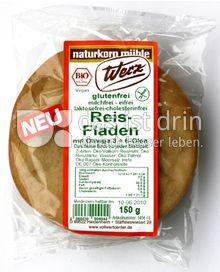 Produktabbildung: Werz Reis-Fladen 150 g