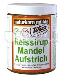 Produktabbildung: Werz Reissirup-Mandel-Aufstrich 300 g
