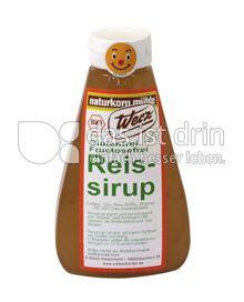 Produktabbildung: Werz Reissirup 300 g