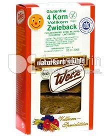 Produktabbildung: Werz 4-Korn-Vollkorn-Zwieback 100 g