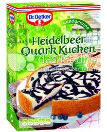Produktabbildung: Dr. Oetker Heidelbeer Quark Kuchen 620 g
