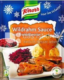 Produktabbildung: Knorr Wildrahm Sauce mit Preiselbeeren