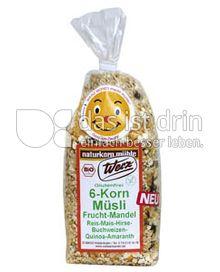Produktabbildung: Werz 6-Korn-Müsli-Frucht-Mandel 250 g