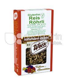 Produktabbildung: Werz Reis-Vollkorn-Röhrli 150 g