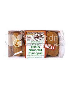 Produktabbildung: Werz Reis-Mandel-Zungen 100 g