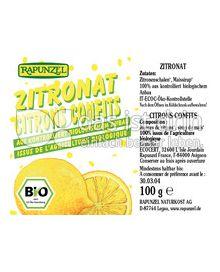 Produktabbildung: Rapunzel Zitronat 100 g