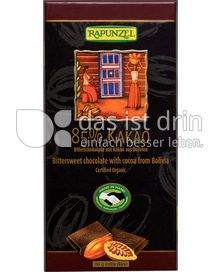 Produktabbildung: Rapunzel 85% Kakao Zartbitterschokolade 80 g