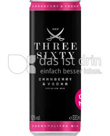 Produktabbildung: Three Sixty Vodka Vodka & Cosmopolitan Mix 0,33 l