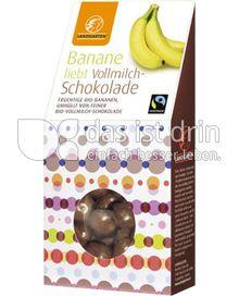 Produktabbildung: Landgarten Banane Vollmilch 90 g