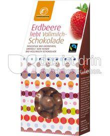 Produktabbildung: Landgarten Erdbeere Vollmilch 90 g