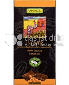 Produktabbildung: Rapunzel Ingwer Zartbitterschokolade 80 g