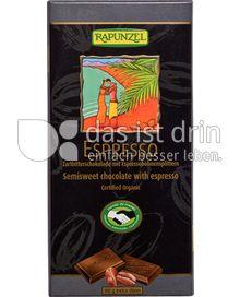 Produktabbildung: Rapunzel Espresso Zartbitterschokolade 80 g