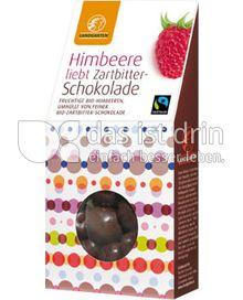 Produktabbildung: Landgarten Himbeere Zartbitter 90 g