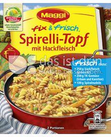 Produktabbildung: Maggi fix & frisch Spirelli-Topf mit Hackfleisch 43 g