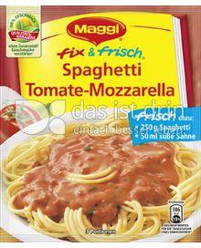 Produktabbildung: Maggi fix & frisch Spaghetti Tomate-Mozzarella 45 g