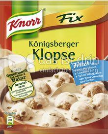Produktabbildung: Knorr Fix Königsberger Klopse 48 g