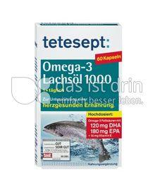 Produktabbildung: tetesept Omega-3 Lachsöl 1000 60 St.