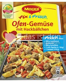 Produktabbildung: Maggi fix & frisch Ofen-Gemüse mit Hackbällchen 60 g