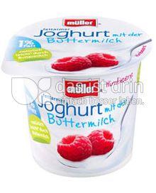 Produktabbildung: Müller Joghurt mit der Buttermilch Himbeere 150 g