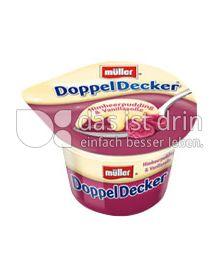 Produktabbildung: Müller DoppelDecker® Himbeerpudding & Vanillasoße 200 g