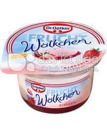 Produktabbildung: Dr. Oetker Frucht-Wölkchen Erdbeere 115 g