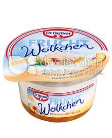 Produktabbildung: Dr. Oetker Frucht-Wölkchen Pfirsich-Maracuja 115 g