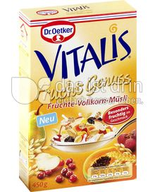 Produktabbildung: Dr. Oetker Vitalis Frucht Genuss Früchte-Vollkorn-Müsli 450 g