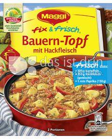 Produktabbildung: Maggi fix & frisch Bauern-Topf mit Hackfleisch 43 g