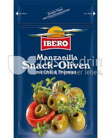 Produktabbildung: Ibero Manzanilla Snack-Oliven mit Chili & Thymian 70 g