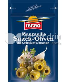 Produktabbildung: Ibero Manzanilla Snack-Oliven mit Knoblauch & Thymian 70 g