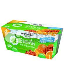 Produktabbildung: Andechser Natur Stevia Bio-Jogurt mild Orange Sanddorn 250 g