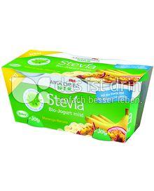 Produktabbildung: Andechser Natur Stevia Bio-Jogurt mild Maracuja-Banane 250 g