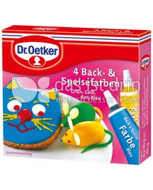 Produktabbildung: Dr. Oetker 4 Back & Speisefarben 40 g